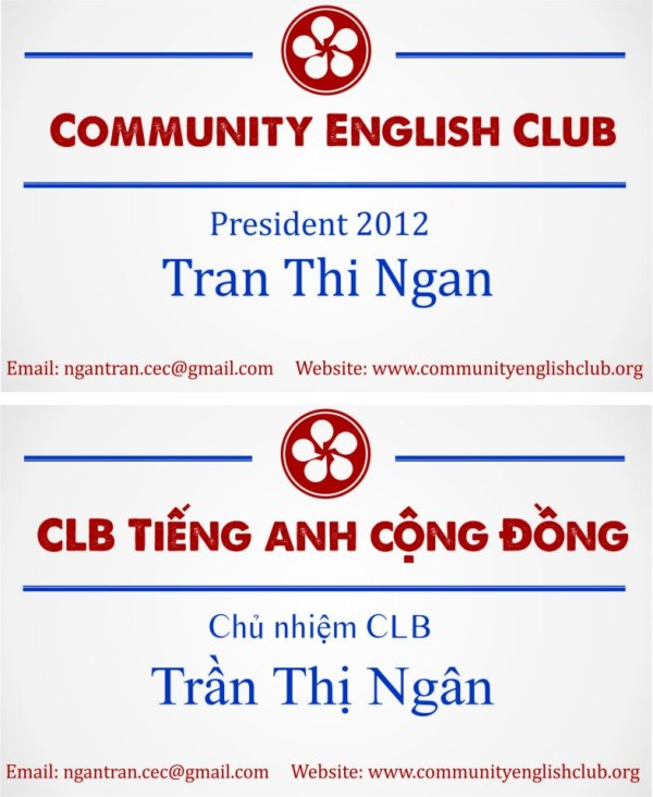 The board of Community English Club (Part 1)-Miss Tran Ngan